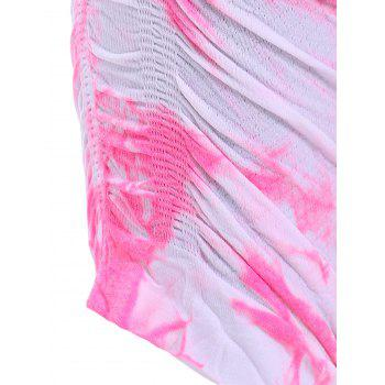 Actif taille élastique Tie Dyed Cropped Leggings - Rose XS