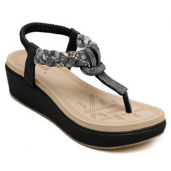 Casual Rhinestones and Platform Design Women's Sandals