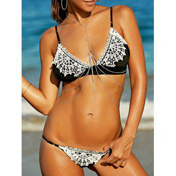 Stylish Women's Strappy Crochet Bikini Set