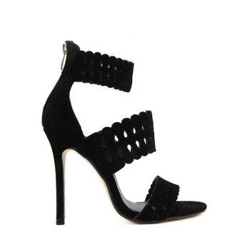Trendy Hollow Out and Ankle Strap Design Sandals For Women