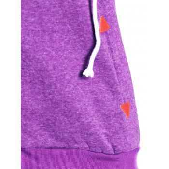 Trendy Hooded Skew Zippered Thick Long Sleeve Hoodie For Women - PURPLE 2XL