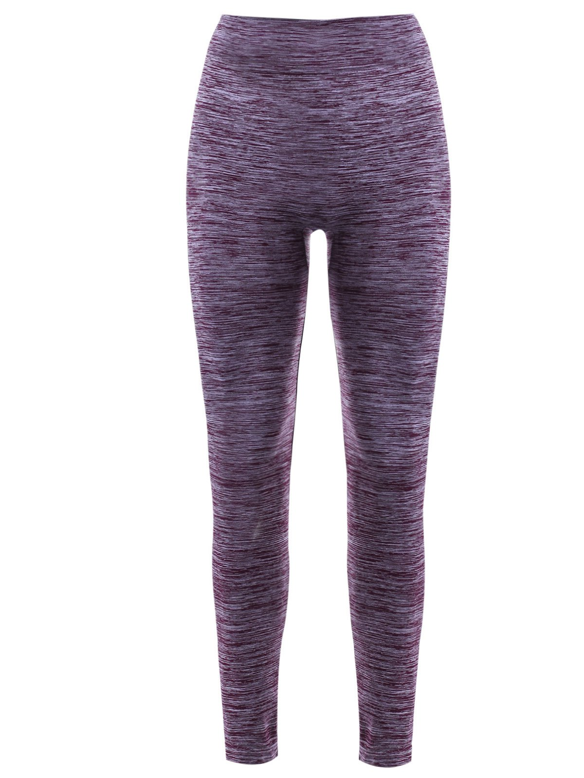 Elastic Waist Women's Sports Leggings - PURPLE XL