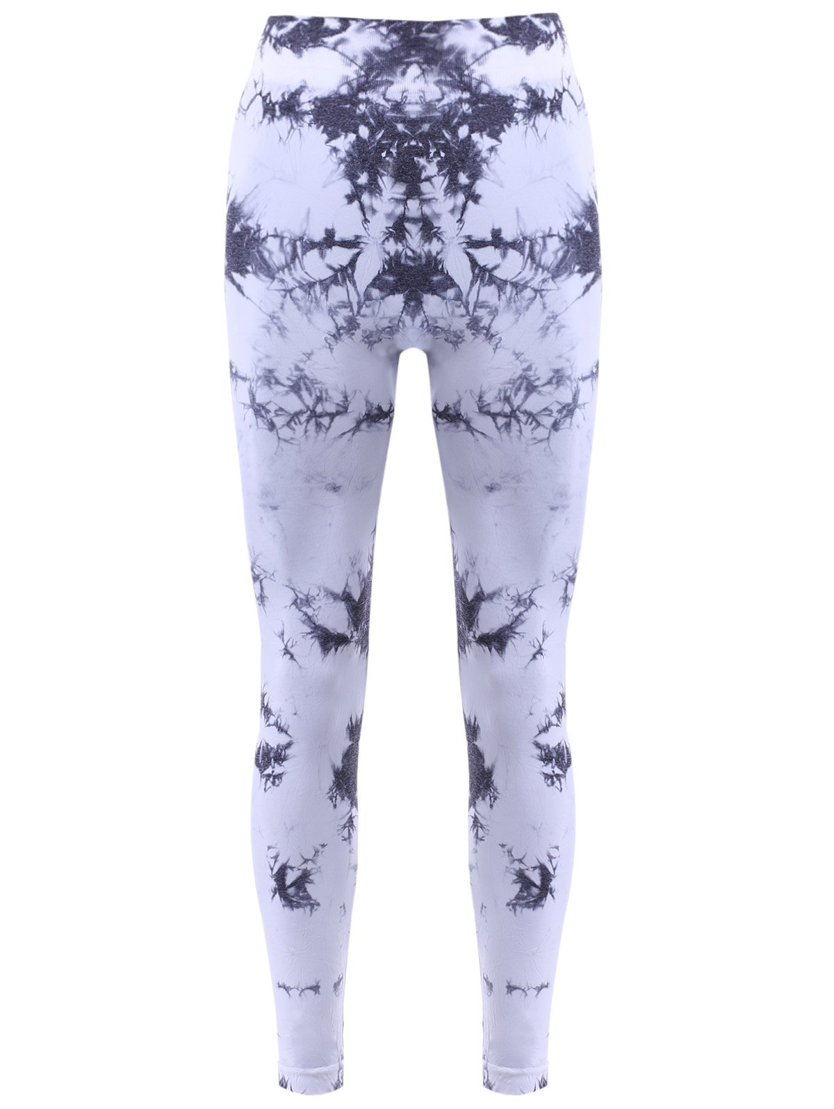 Elastic Waist Oli Printed Women's Sports Leggings - WHITE/BLACK L