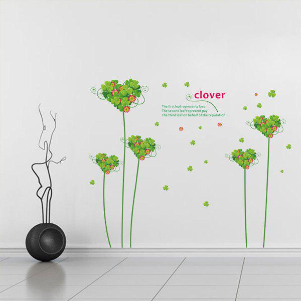 Romance Love Clover Removeable Wall Stick - COLORMIX