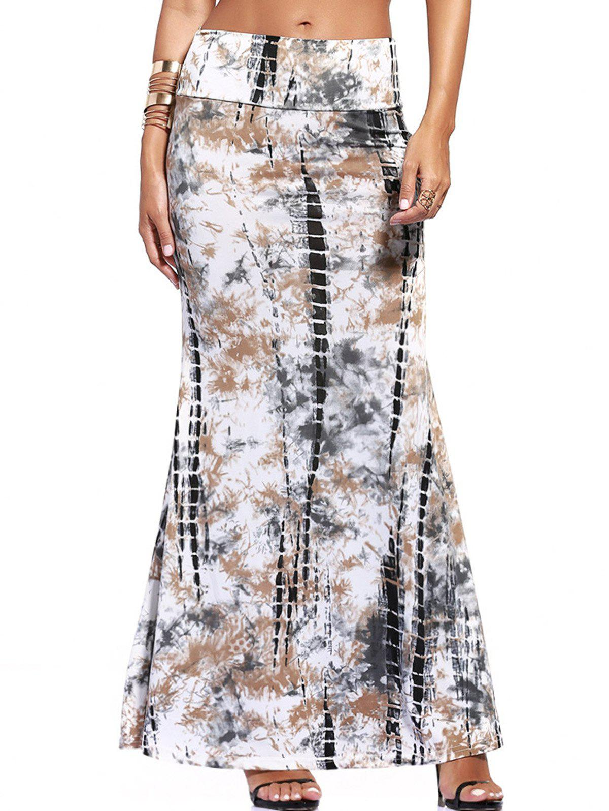 Ethnic Tie-Dyed Maxi Skirt For Women