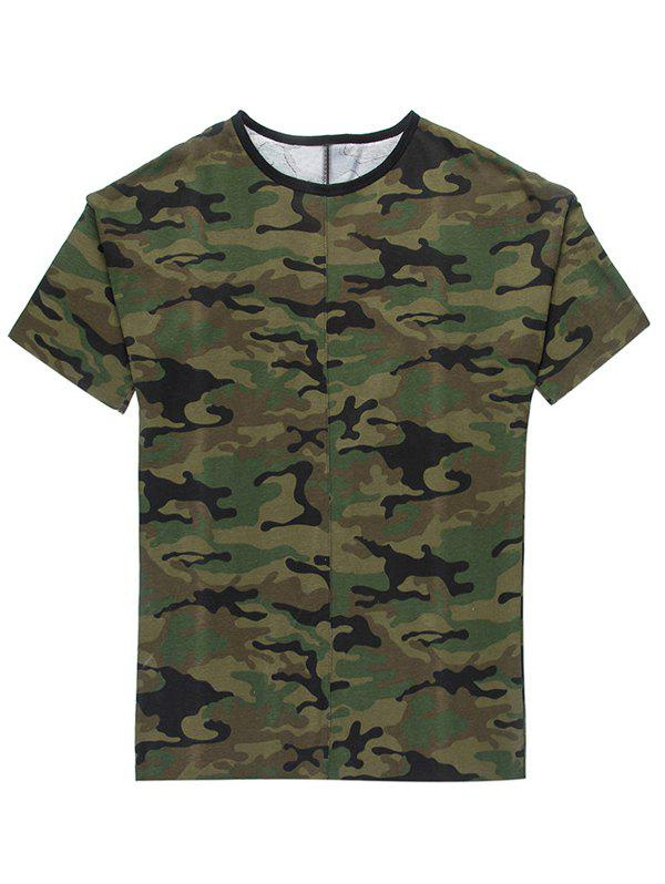 Men's Fashion Loose Fit Camo T-Shirt - CAMOUFLAGE 3XL