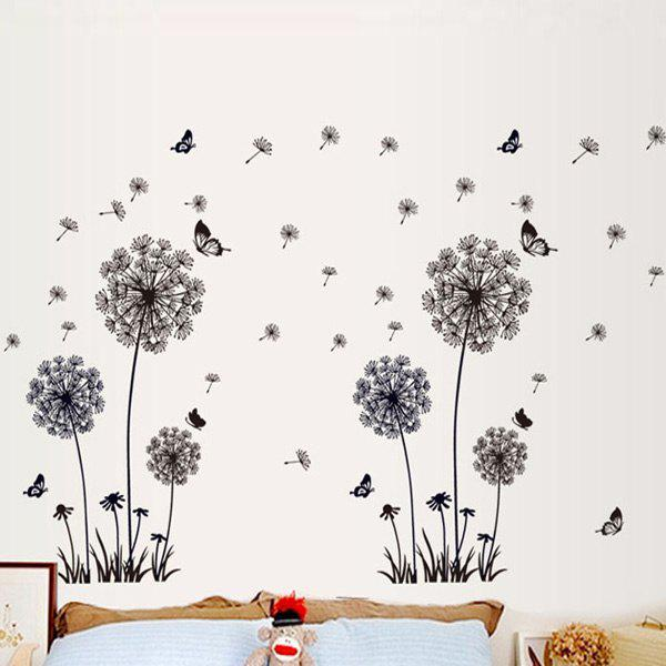 Hot Selling Black Dandelion Removeable Wall Stick - BLACK