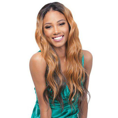 Women's Stylish Synthetic Long Wavy Wig - COLORMIX