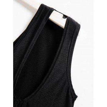 Casual One-Shoulder Sleeveless One-Piece Hollow Out Women's Swimwear - BLACK BLACK