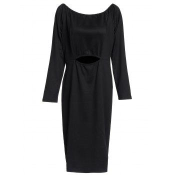 Trendy Off-The-Shoulder Cut Out Back Zippered Bodycon Dress For Women