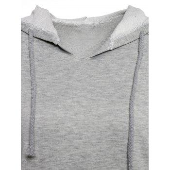 Trendy Hooded Long Sleeve Pocket Design Solid Color Women's Hoodie - M M