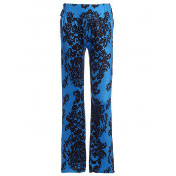 Stylish Elastic Waist Printed Loose Fitting Wide Leg Women's Pants