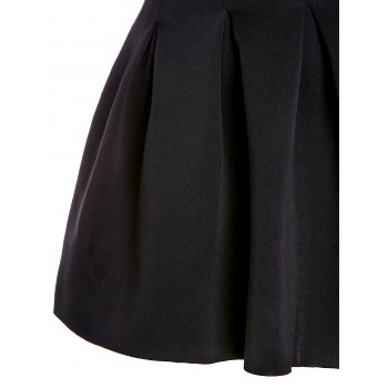 Sweet Ball Candy Color Skirt For Women - BLACK BLACK