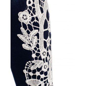 Stylish Lace-Spliced Jeans For Women - S S