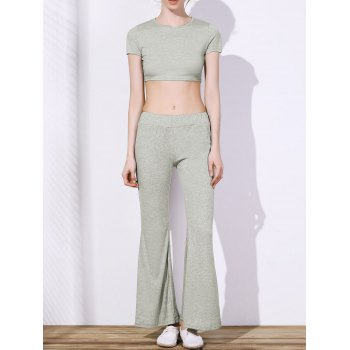 Women's Chic High Waist Pure Color Loose Flare Pants