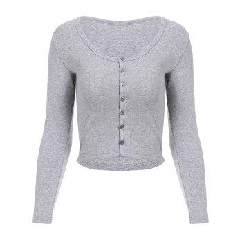 Stylish Long Sleeve Scoop Neck Solid Color Women's Cardigan