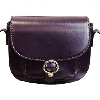 Trendy Solid Colour and Covered Closure Design Women's Crossbody Bag
