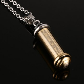 Chic Bullet Geometric Necklace For Men