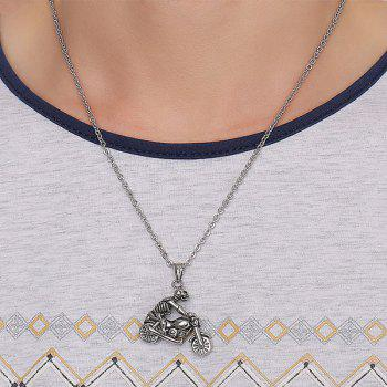 Chic Motorcycle Skull Necklace For Men - SILVER