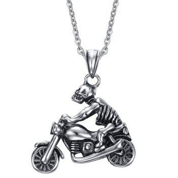 Chic Motorcycle Skull Necklace For Men