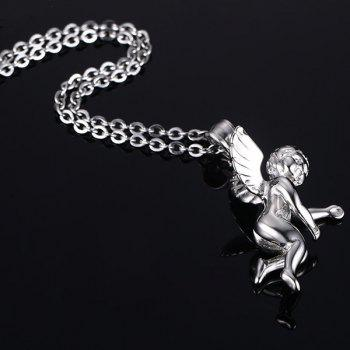 Chic Angel Wings Shape Necklace For Men - SILVER