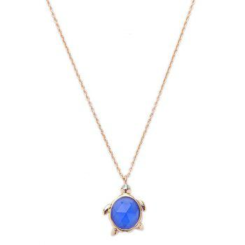 Tortoise Faux Gem Necklace