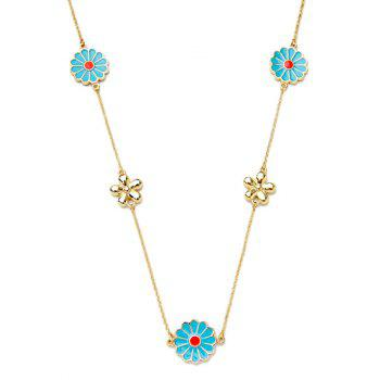 Ethnic Flowers Pendant Necklace