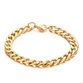 Delicate Alloy Solid Color Bracelet For Men