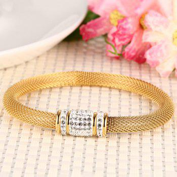 Magnetic Buckle Rhinestone Bracelet - GOLDEN