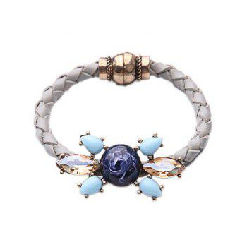 Faux Gem Crystal Knitted Bracelet
