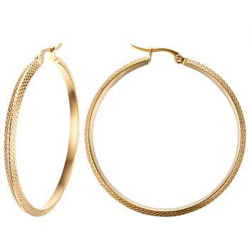 Pair of Alloy Big Circle Earrings