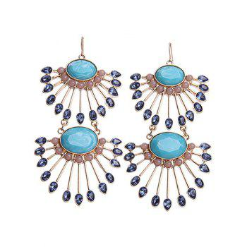 Statement Faux Gem Fan Earrings