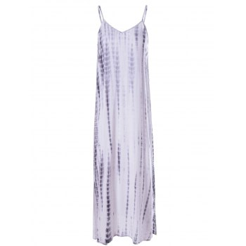 Fashionable Tie-Dye Low-Cut Spaghetti Strap Dress For Woman
