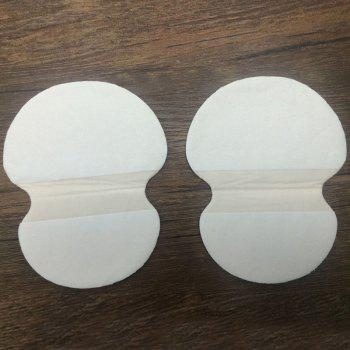 Cosmetic 2 Pcs Sweat Absorbing Ultra Thin Underarm Sweat Pads - WHITE