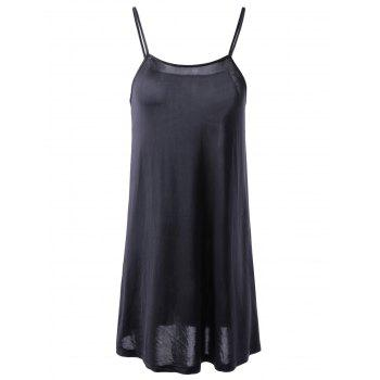 Fashionable Round Collar Cut-Out Two-Piece Short Sleeves Dress For Women - BLACK M