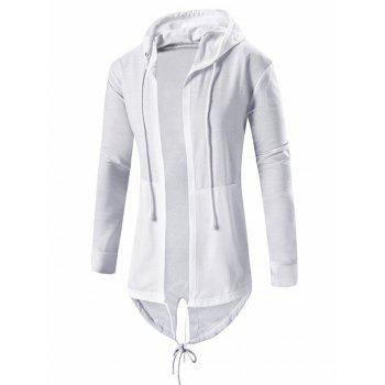 Men's Cardigan Pocket Design Hoodie Long Sleeve Jacket