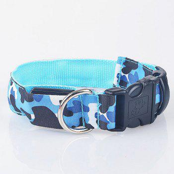 Eye-Catching LED Luminous Camouflage Pattern Night Walk Collar For Dogs - L L