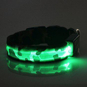 Eye-Catching LED Luminous Camouflage Pattern Night Walk Collar For Dogs