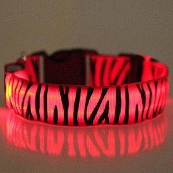 Novelty Zebra-Stripe Pattern LED Luminous Collar For Dogs