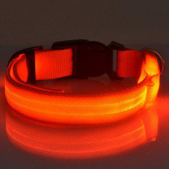 Novelty LED Luminous High Brightness Nylon Rope Collar For Pet Dogs