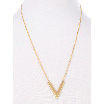Triangle Multilayer Stone Necklace - GOLDEN