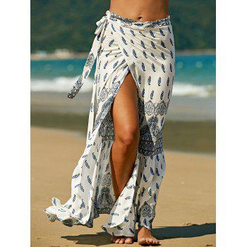 Stylish High Waist Bohemian Print Women's Skirt