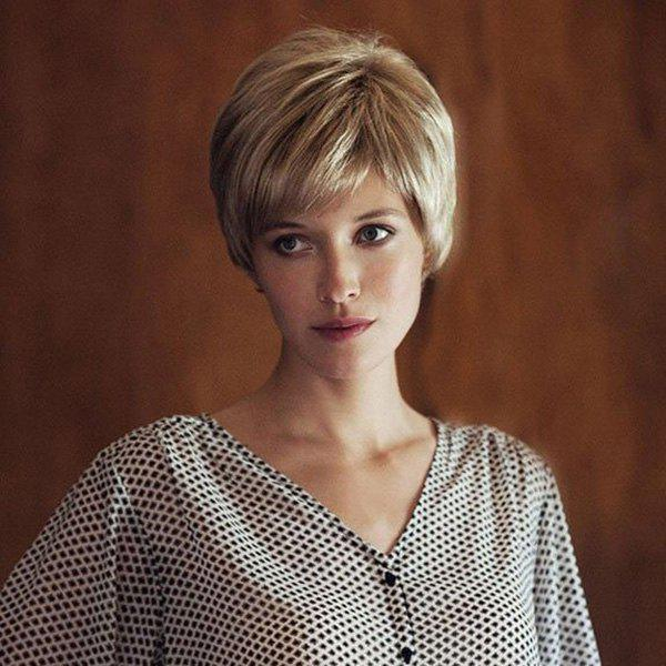 Women's Synthetic Shaggy Side Bang Short Layered Cut Wigs
