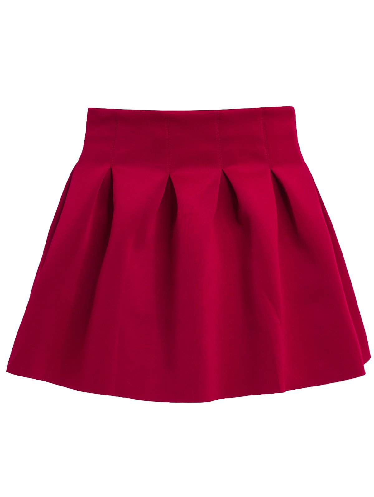 Sweet Ball Candy Color Skirt For Women - WINE RED L