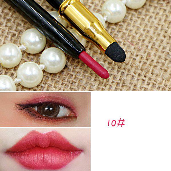 Cosmetic 15 Colours Double-End Brighten Lip Liner Highlight Silkworm Pencil Eyeliner pencil -