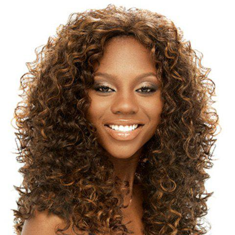 Women's Stylish Synthetic Long Curly Wig - DEEP BROWN