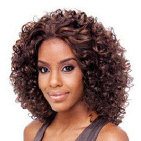 Women's Stylish Synthetic Curly Wig - DEEP BROWN