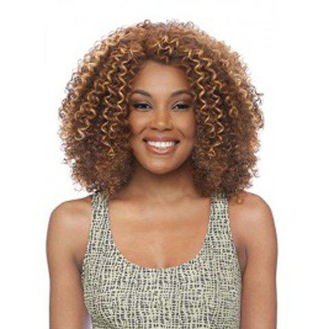 Women's Stylish Synthetic Kinky Curly Wig - LIGHT BROWN