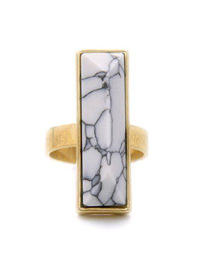 Vintage Rectangle Stone Ring - GOLDEN