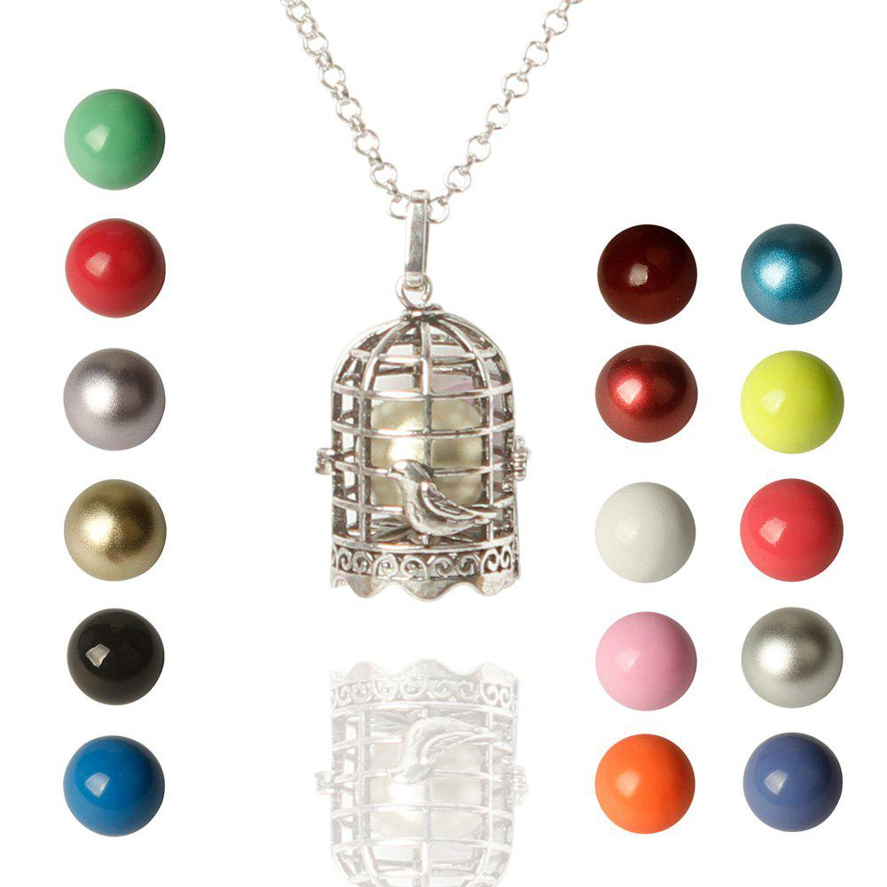 Birdcage Bead Necklace - COLORMIX